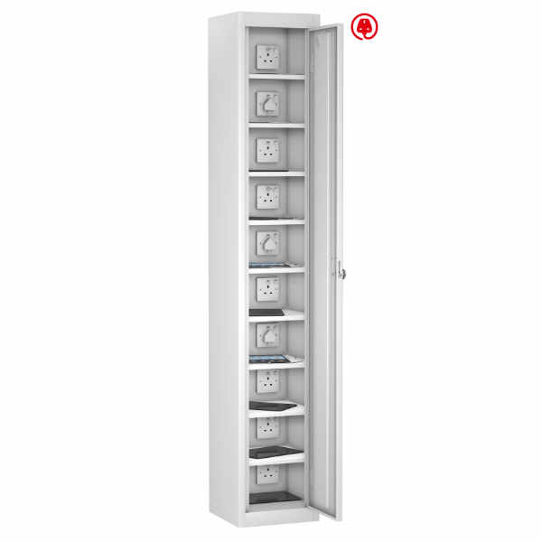8 Compartment Recharging Laptop Locker - 2