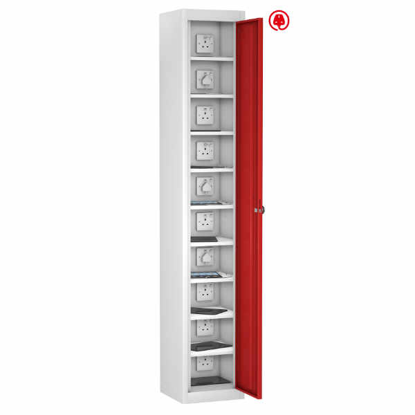 8 Compartment Recharging Laptop Locker - 4