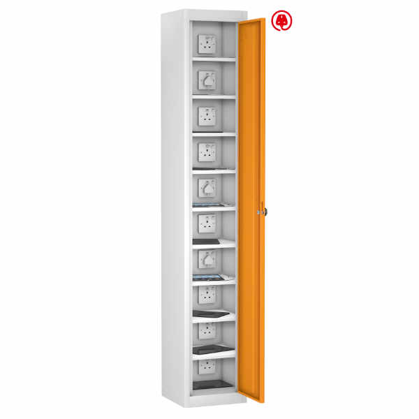 8 Compartment Recharging Laptop Locker - 5