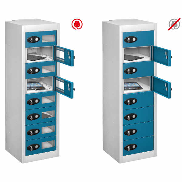 8 Compartment Recharging Laptop Locker - 6