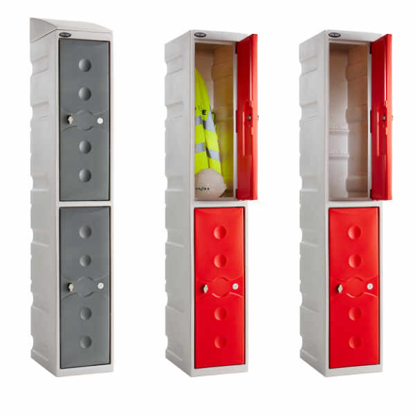 4 Tier Plastic School Locker - 2