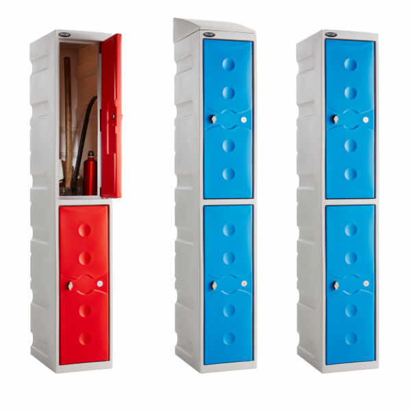 4 Tier Plastic School Locker - 3