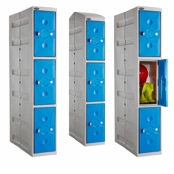 3 Tier Plastic Gym Locker - 2