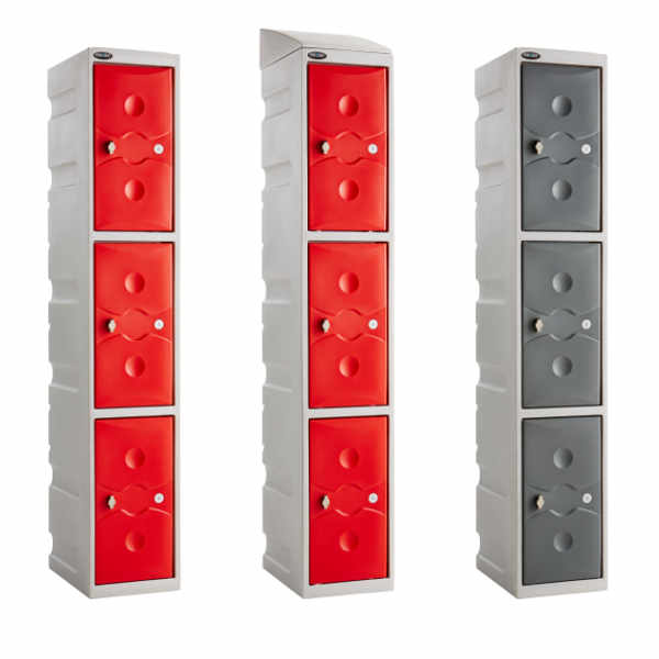 3 Tier Plastic Gym Locker - 4