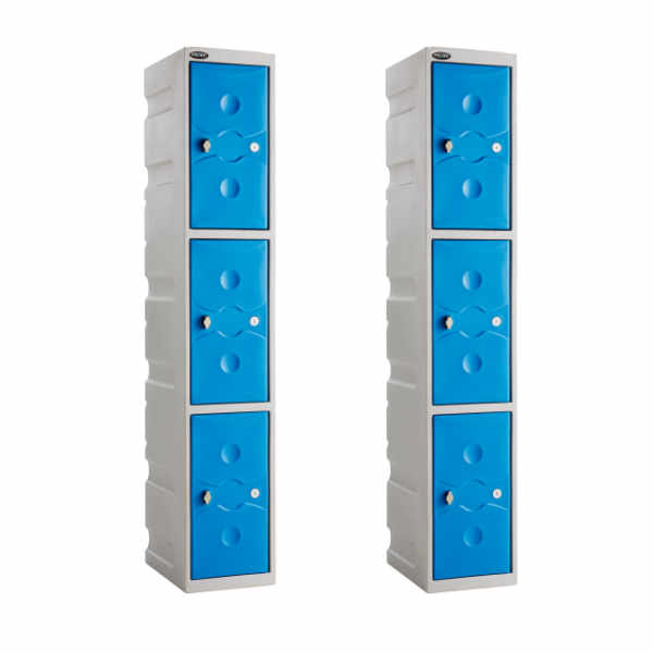 3 Tier Plastic Gym Locker - 6