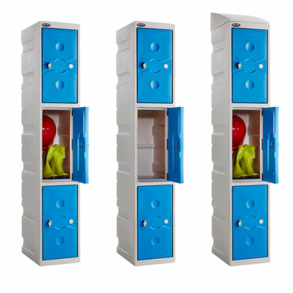 3 Tier Plastic School Locker - 1