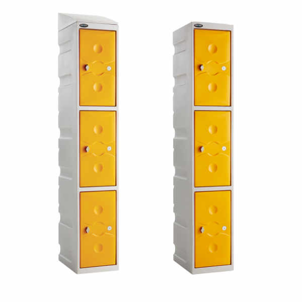 3 Tier Plastic School Locker - 5