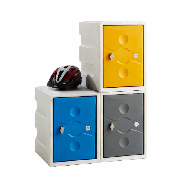 4 Tier Plastic School Locker - 4
